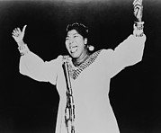 Gospel Framed Prints - Mahalia Jackson 1911-1972, African Framed Print by Everett