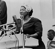 Civil Rights Movement Prints - Mahalia Jackson 1911-1972, Singing Print by Everett