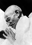 1930s Portraits Art - Mahatma Gandhi Following His Release by Everett
