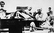 Gandhi Prints - Mahatma Gandhi, Jawaharlal Nehru At An Print by Everett