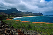 Landscape Greeting Cards Photo Prints - Mahaulepu Beach Print by Kathy Yates