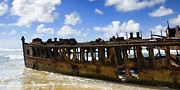Wendy White Acrylic Prints - Maheno Shipwreck Acrylic Print by Wendy White