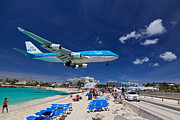 Klm Framed Prints - Maho Beach Framed Print by Katka Pruskova
