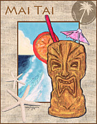 Island Artist Pastels Prints - Mai Tai Print by William Depaula