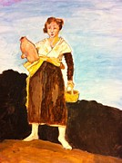 Pottery Paintings - Maid at work by Matthew Orlando