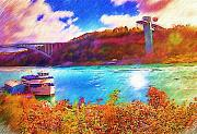 Falls Paintings - Maid of the Mist Niagara by Deborah MacQuarrie