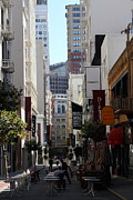 Geary Boulevard Framed Prints - Maiden Lane San Francisco . 7D7349 Framed Print by Wingsdomain Art and Photography
