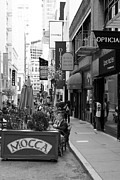 Outdoor Cafes Metal Prints - Maiden Lane San Francisco California - 5D19376 - Black and White Metal Print by Wingsdomain Art and Photography