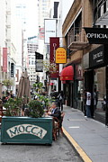 Outdoor Cafes Metal Prints - Maiden Lane San Francisco California - 5D19376 Metal Print by Wingsdomain Art and Photography