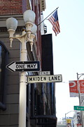 Geary Boulevard Prints - Maiden Lane San Francisco Print by Wingsdomain Art and Photography