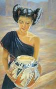 Americans Pastels Posters - Maiden of the Mesa Poster by Ann Peck