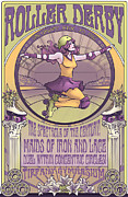 Roller Derby Posters - Maids of Iron and Lace Poster by Dani Kaulakis