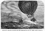 1870 Posters - Mail Balloon Crash, 1870 Poster by Granger