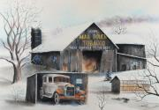 Pennsylvania Pastels Framed Prints - Mail Pouch Barn Clearfield Co PA 2 Framed Print by Paul Cubeta