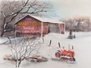 Pennsylvania Pastels Framed Prints - Mail Pouch Barn Greene Co PA 2 Framed Print by Paul Cubeta
