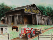 Indiana Pastels Metal Prints - Mail Pouch Barn Indiana CO PA Metal Print by Paul Cubeta