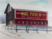 Pennsylvania Pastels - Mail Pouch Barn Somerset Co PA 2 by Paul Cubeta