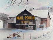 America Pastels Posters - Mail Pouch Barn Somerset Co PA 3 Poster by Paul Cubeta