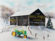 West Virginia Pastels - Mail Pouch Barn West Virginia 2 by Paul Cubeta