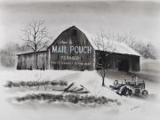 Pennsylvania Pastels - Mail Pouch Barn Westmoreland Co PA by Paul Cubeta