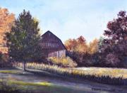 Old Barns Paintings - Mail Pouch Neighbor by Penny Neimiller