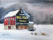 Blow Painting Prints - Mail Pouch Tobacco Barn Print by Patrick Moyer