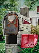 John Schuller Paintings - Mailbox by John Schuller