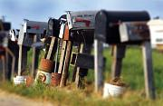 Photography Art Photographs Prints - Mailboxes Print by Craig Incardone