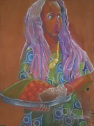 Realist Pastels - Maimuna the kabalagala girl  by Kenneth Otelu