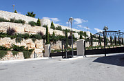 Bethlehem Prints - Main Entrance to Bethlehem Convention Center Print by Munir Alawi