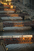 Illinois Photo Prints - Main Stem Chicago River Print by Steve Gadomski