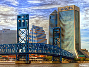 Jacksonville Framed Prints - Main Street Bridge Framed Print by John Baldwin