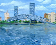 Florida Bridge Originals - Main Street Bridge by Larry Whitler