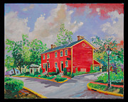 Dublin Painting Originals - Main Street Dublin Ohio by Thomas MACMILLAN