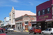 Facades Posters - Main Street in Silver City NM Poster by Susanne Van Hulst