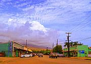 Molokai Framed Prints - Main Street Kaunakakai Framed Print by James Temple
