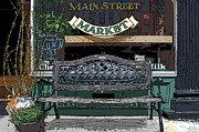 Grocery Store Framed Prints - Main Street Market Framed Print by Guy Harnett