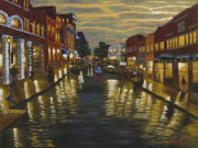 Streetscape Paintings - Main Street Rock Hill by Michael  Lee