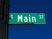 Pole Prints - Main Street Sign Print by Paul Velgos