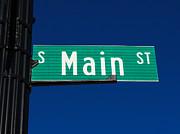 Main Street Sign Print by Paul Velgos