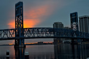 Jacksonville Florida Prints - Main Street Sunrise Print by William Jones