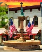 Flags Mixed Media - Main Street USA by Anthony Caruso