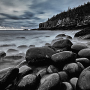 Maine Photographs Prints - Main sunrise on the rocks Print by Chad Tracy