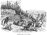 Attack Dog Photos - Maine: Attacking Native Americans by Granger