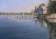 Shed Paintings - Maine Dock by Will Kefauver