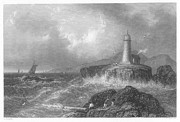 1839 Photos - Maine: Lighthouse, 1839 by Granger