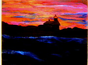 Maine Lighthouse Print by Allen n Lehman