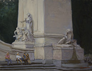 Maine Monument Summer 2012 Print by Walter Mosley