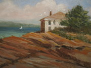 Maine Seacoast Paintings - Maine Remembered by Margaret Hodgson