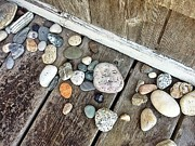 Pebbles Prints - Maine rocks Print by Olivier Calas
